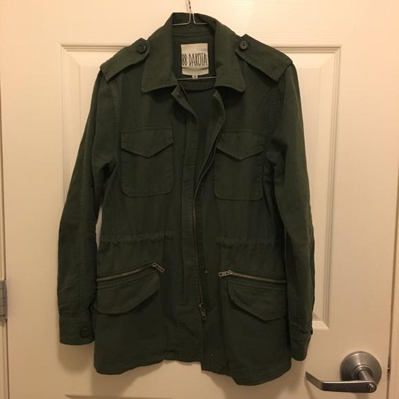BB Dakota Jackets & Blazers - BB Dakota Military Cargo Utility Jacket Cotton